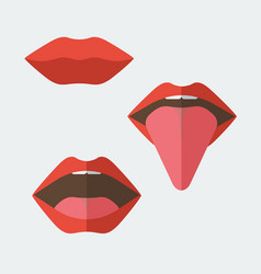 Set of feminine lips vector