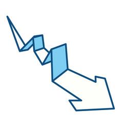 Arrow business statistics vector