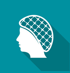 Hairnets must be worn flat icon vector