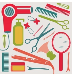 Hairdressing collection vector image