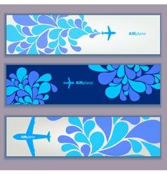 Air plane design banners vector