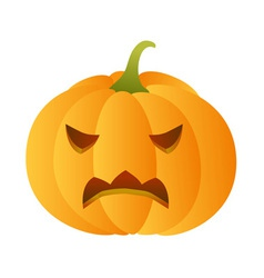 Angry carved pumpkin vector