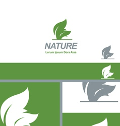 Nature Green Leaf Natural Organic Logo Concept vector image