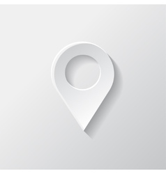 Map pointer icon location symbol vector