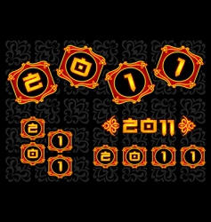 Chinese 2011 nnew year vector