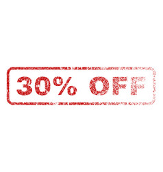 30 percent off rubber stamp vector