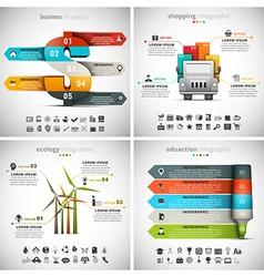 4 in 1 infographic bundle vector