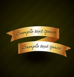 Golden ribbon design with space for your text vector