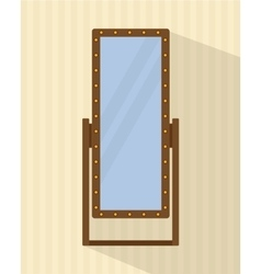 Big full-length mirror vector
