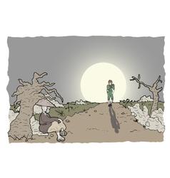 Comic scene vector