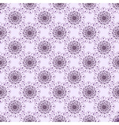 Seamless gentle violet floral pattern vector
