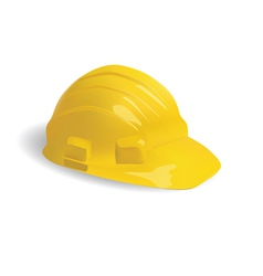 Isolated hard hat vector