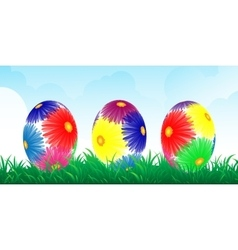 Colour easter banner vector