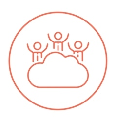 Cloud computing line icon vector