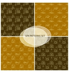 Set spa themed seamless patterns vector