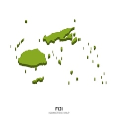 Isometric map of fiji detailed vector