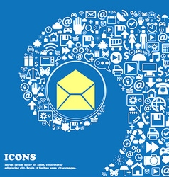 Mail envelope icon nice set of beautiful icons vector