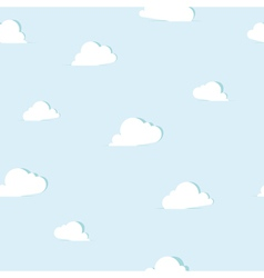 Abstract paper clouds seamless pattern vector image