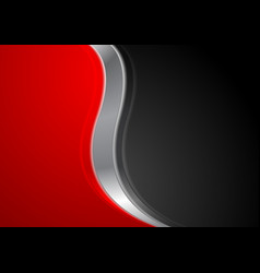 abstract red black background with metallic wave vector image