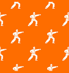Aikido fighter pattern seamless vector