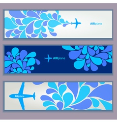 Air plane design banners vector