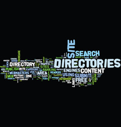 Article directories play an important role in seo vector