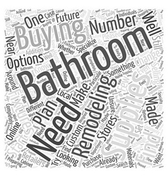 Bathroom remodeling supplies your buying options vector