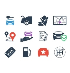 Car rental icons set vector
