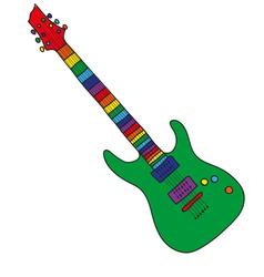 Cartoon guitar vector