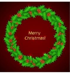 Christmas holly wreath christmas vector