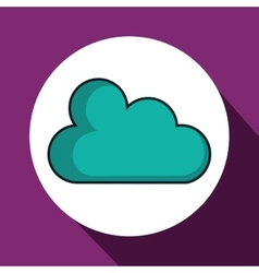 Cloud computing flat icon vector
