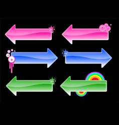 color arrows vector image vector image