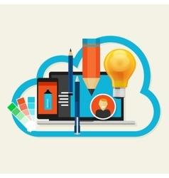 creative cloud software mobile art design vector image