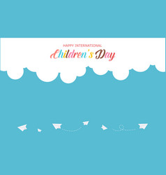 Design banner for childrens day vector
