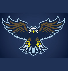 eagle spread the wings vector image