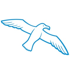 Flying seagull vector