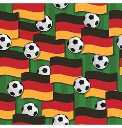 germany football pattern vector image vector image