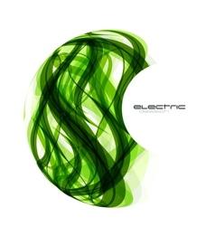 Green lines sphere design vector
