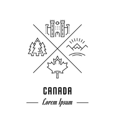 Line Banner Canada vector image