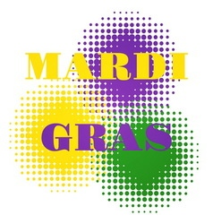 Mardi gras halftone background vector