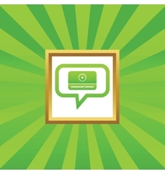 Mediaplayer message picture icon vector