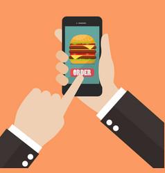 order fast food online vector image