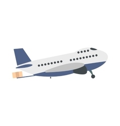 Passenger airplane flat vector