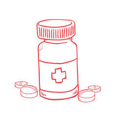 Pills medicine bottle vector