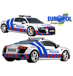 portugal police car vector image