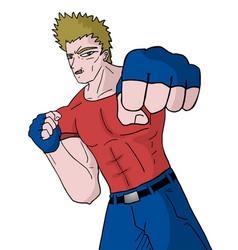 Punch man vector