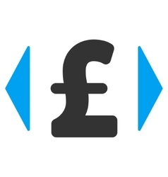 Regulate pound price flat icon symbol vector