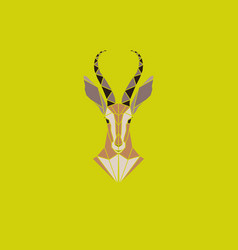 sign abstract head of african antelope vector image vector image