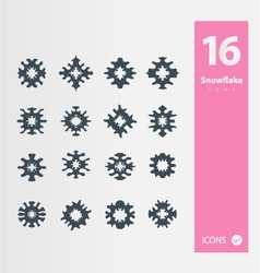 Snowflakes icon set vector image vector image