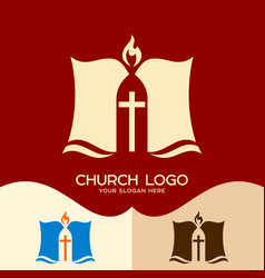 The bible and the cross vector